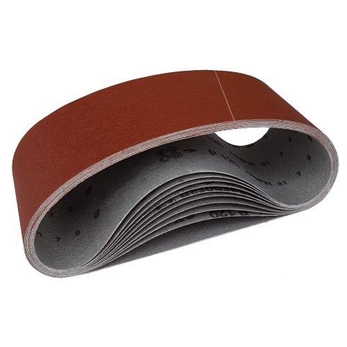 5 Gewebe-Schleifbänder 75 x 533 mm Korn 60 Schleifpapier Schleifband
